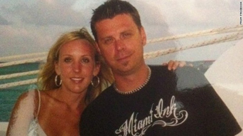 THE VICTIM, CHAD OULSON AND HIS WIFE