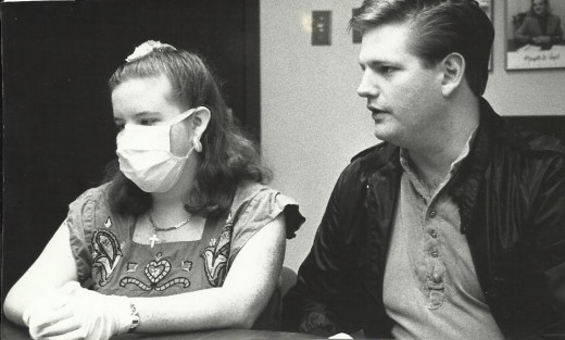 Being interviewed as the youngest heart transplant recipient in Arkansas at that time. 1993