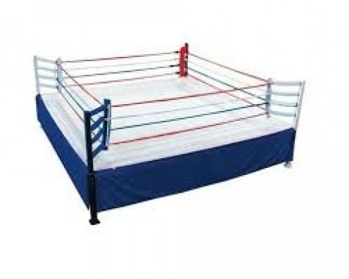 The boxing ring is where the action takes place.