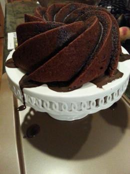 Black Chocolate Russian Bundt Cake