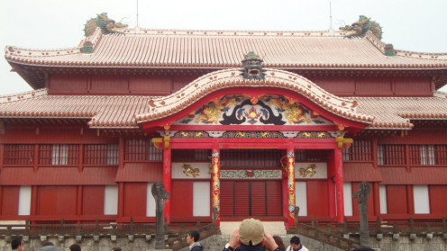 This is a picture of Shuri Castle one of the main attractions.