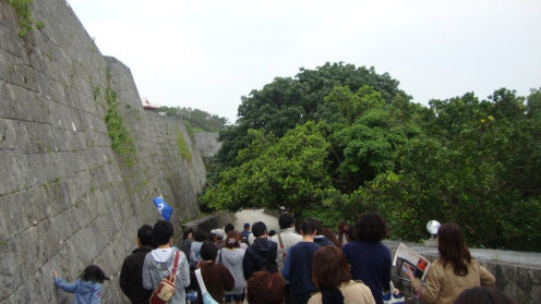 This is the walking trail which looks over  Naha Before reaching Shuri Castle