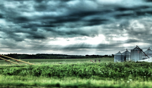 Took this while riding in a car