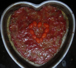 A heart-shaped meatloaf that I made for my boyfriend last Valentine's Day.