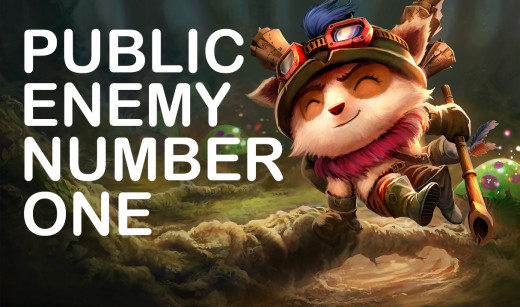 Teemo, League of Legends, copyright Riot Games, Inc., edits mine