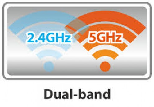 Dual band routers have 2.4Ghz and 5 Ghz bands