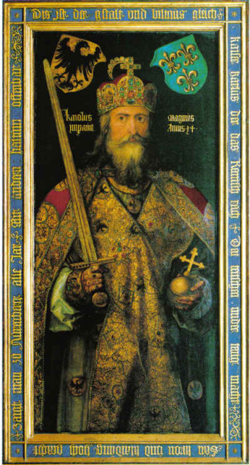 """Charlemagne """"King of the Franks"""" (768-814) could be regarded as Europe's """"saviour"""". Today, he is often referred to as the """"founding father"""" of the European Union."""