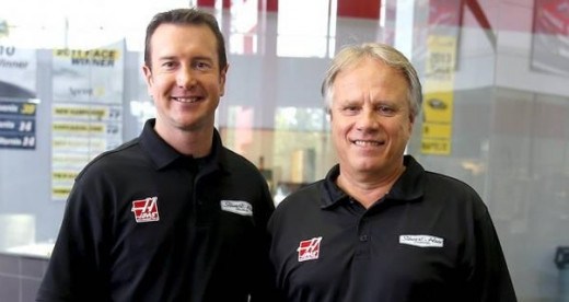 Gene Haas (right) brought Kurt Busch aboard while Stewart recovered from a Sprint Car wreck last August