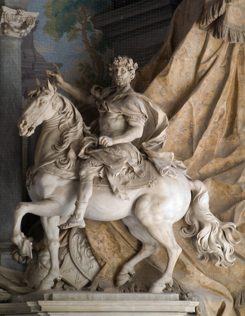 Equestrian statue of Charlemagne, by Agostino Cornacchini (1725) — St. Peter's Basilica, Vatican.