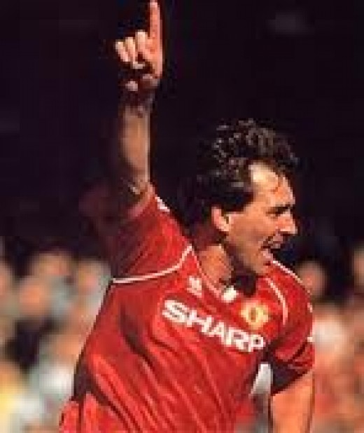 Brian Robson In Action For United.
