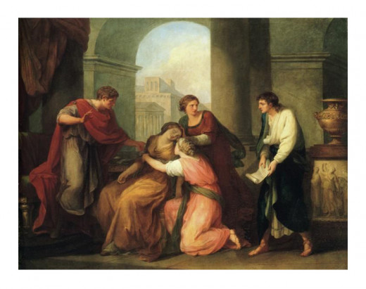 Virgil reading  poetry to Augustus and Octavia