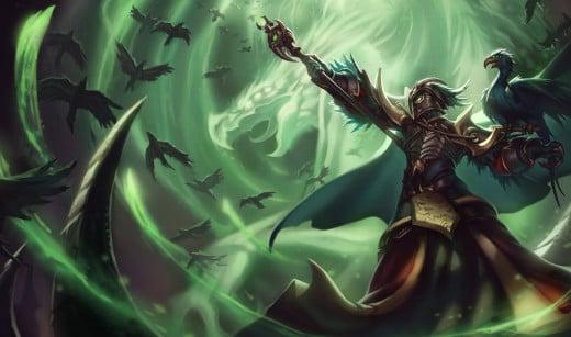"""Tyrant"" Swain, League of Legends, copyright Riot Games, Inc."