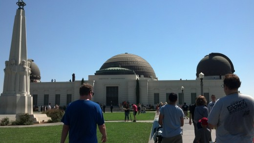 The entrance to The Griffith Observatory