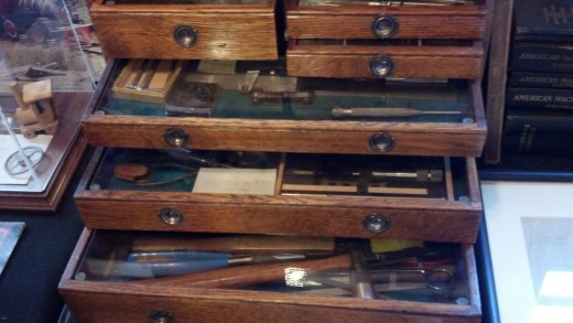 Some of Walt Disney's tools for when he worked on his model trains