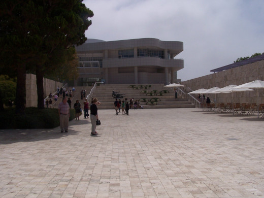 The Main Entrance to the Getty Center