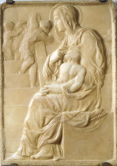Madonna of the Stairs, by Michelangelo, Florence, Casa Buonarotti, circa 1490, is his earliest know work.