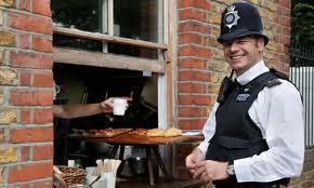 Even the neighbourhood plod gets his cuppa!
