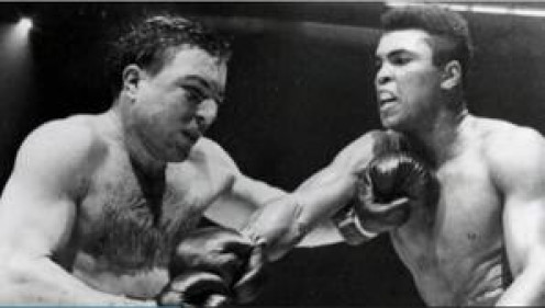 George Chuvalo, seen here fighting Muhammad Ali, took the best punches of Ali, Joe Frazier and George Foreman without ever going down.