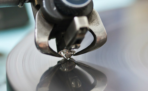 The diamond cutting process.