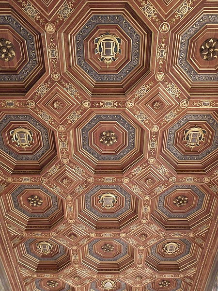 Coffered ceiling at Fountainebleau