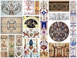 Examples of some of the Grotesque designs of the Renaissance Era