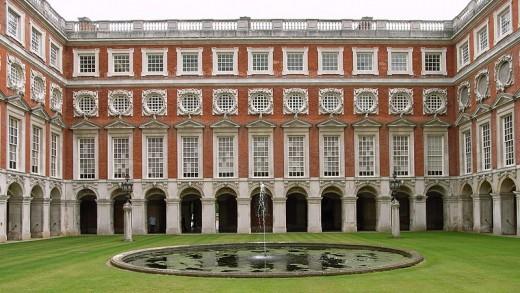 Henry VIII's Hampton Court in England