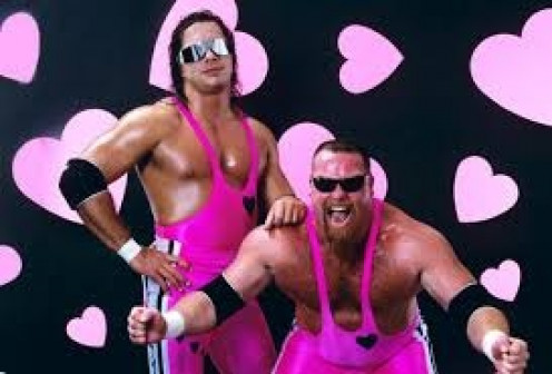 Bret Hart and Jim Neidhardt were the Hart Foundation and they won the tag team championship together in the WWF (Now The WWE).