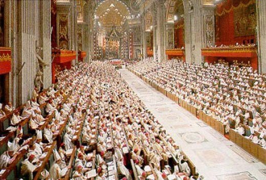 Vatican II brought bishops together from all over the world which made a statement that the church's authority was held by them and not by ultra-conservative Italian cardinals in the Vatican