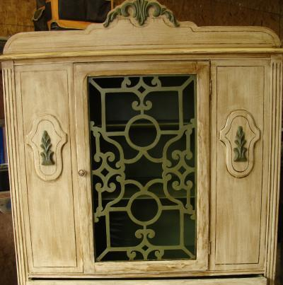 I bought this China cabinet already redone for $95 and sold it that day for $275