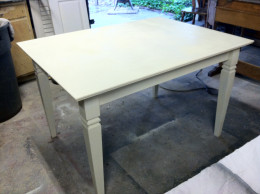 I found this farm table on the curb, painted it white and sold it for $195