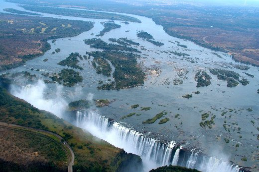 Aerial View Of The Victoria Falls.