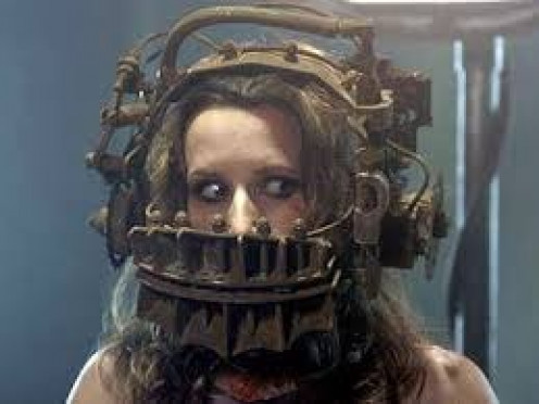 The saw films has some gruesome death traps. If you escape you go free and if you don't then you die. The traps in this movie are often frightening and too be honest, unique.