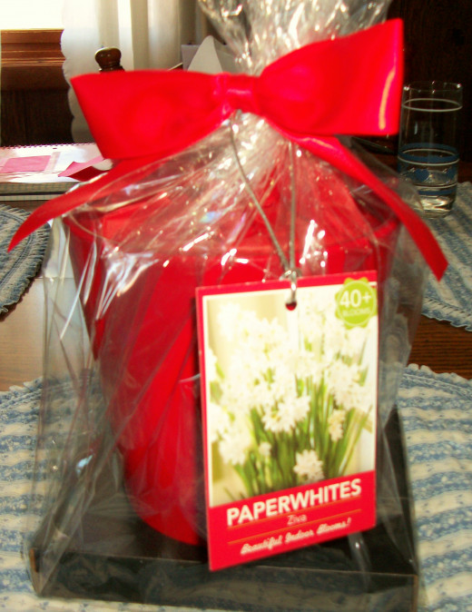 Perfect gift for someone who likes houseplants is a gift basket that includes everything to start a houseplant