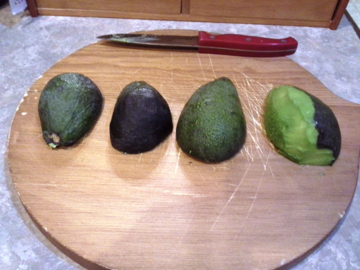 Step Three: Peel your avocados, or scrape out the flesh, depending on the avocados you have