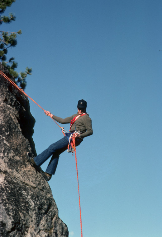 Ed Palumbo - practice rappel, Yosemite Valley