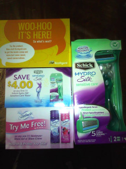Bzzagent kit, Schick Hydro Silk with other coupons!