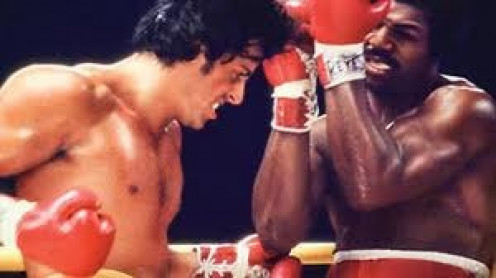 """Rocky fought Apollo Creed for the heavyweight championship in """"Rocky"""".  He lost a decision but he went the distance which is more than anyone expected him to do."""