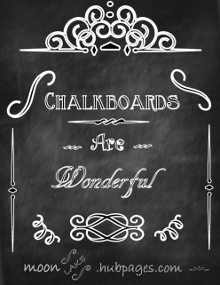 The Many Uses of Chalkboard Paint and Magnetic Paint.