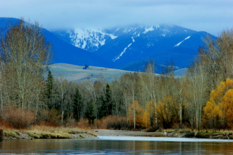 The Clark Fork River, Missoula, Montana