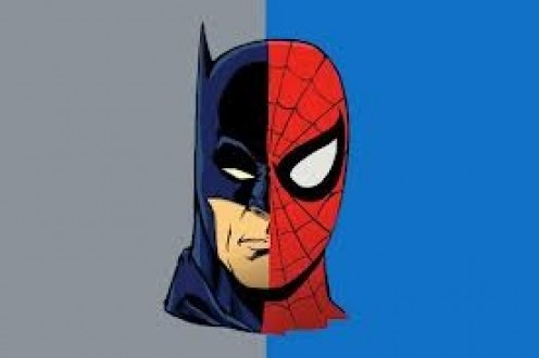 Spider-Man and Batman fight crime in their respective cities. It's split on who would win in a battle between the two.