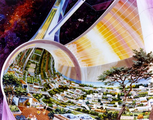 Space colonies are in the near future for America.