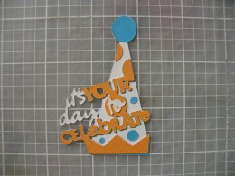 Orange Phrase layer adhered along with small dots saved from Blue layer