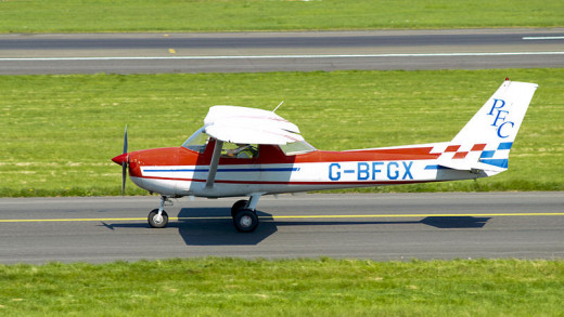 Andy Mitchell of Glasgow, Scotland photographed this Cessna 150 on May 8, 2008.