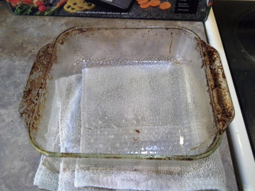 Step Two: Spray your casserole dish with cooking spray (I know. I need to soak this dish really well.)