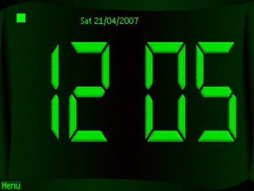 Standard Digital Clock Face
