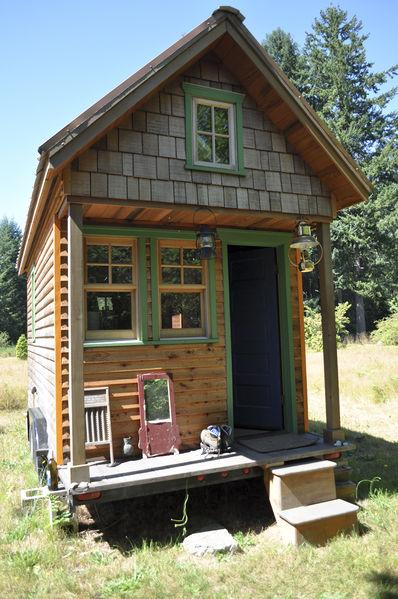 Tiny house with a tiny porch