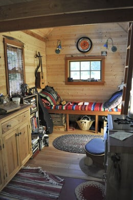 Interior of tiny house