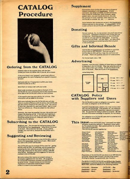A page from the Whole Earth Catalog.