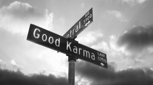"Take a right at ""Good Karma"""