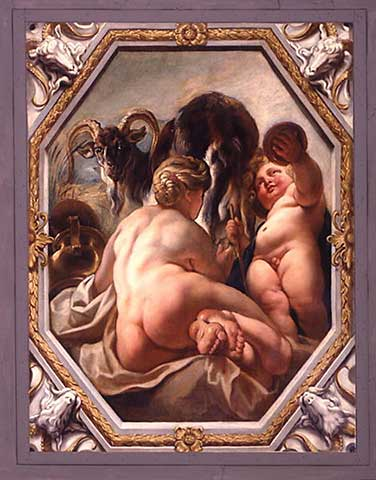 Capricorn by Jacob Jordaens ... Look at that trusty goat!!!